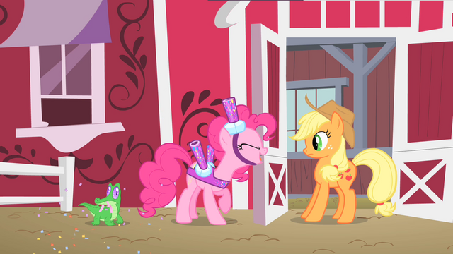 File:Pinkie Pie invites Applejack S1E25.png