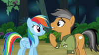 Quibble starting over with Rainbow Dash S6E13