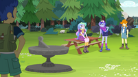 Celestia and Luna near Camp Everfree sundial EG4