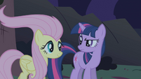 Fluttershy with licked hair S01E02