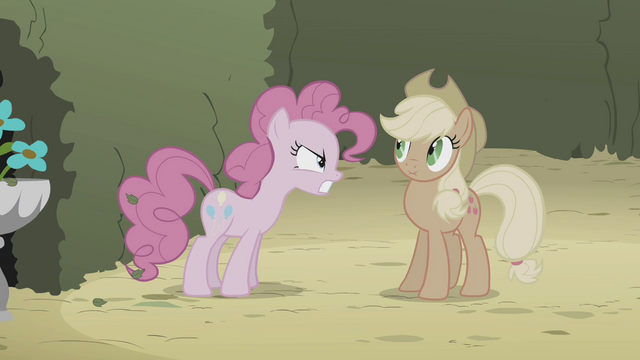 File:Pinkie Pie angry at Applejack S2E1.png