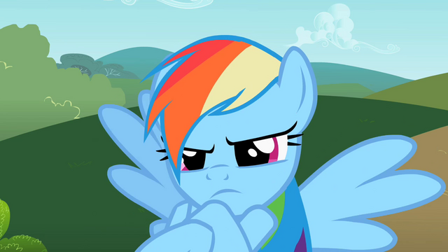 File:Rainbow Dash acting childish S2E8.png