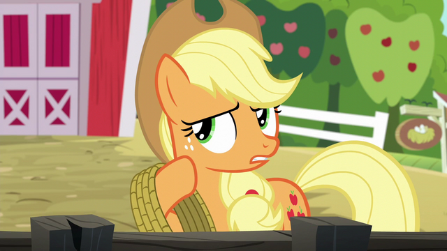 "File:Applejack ""just couldn't let those spa ponies"" S6E10.png"