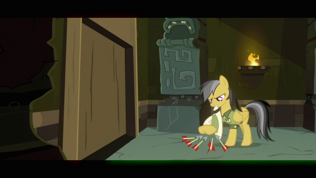 File:Daring Do brushing arrows off pith helmet S2E16.png