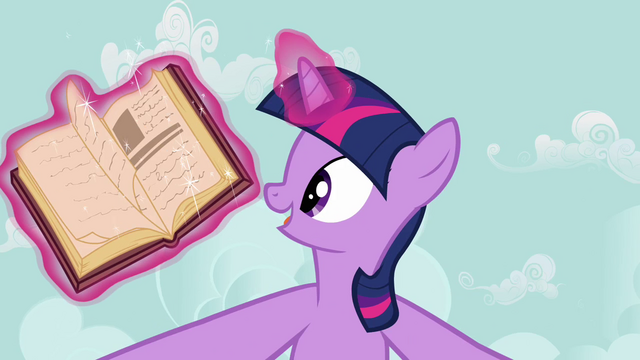 File:Twilight Sparkle opens book S2E17.png