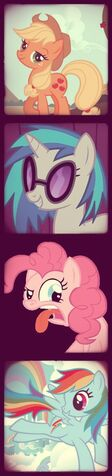 File:FANMADE Ponies in vintage photo sequence.jpg