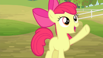 Apple Bloom waving S4E17
