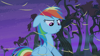 Rainbow Dash with raining hay S4E07