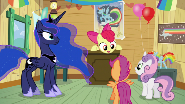 "File:Apple Bloom ""let's put together a care package"" S5E4.png"
