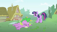 Twilight tells Spike he has to focus S1E15