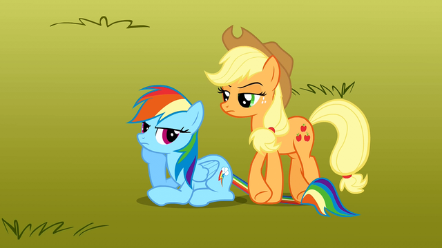 File:Applejack steps on Rainbow Dash's tail S1E13.png
