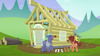 Hooffield and McColt stallions build a house together S5E23