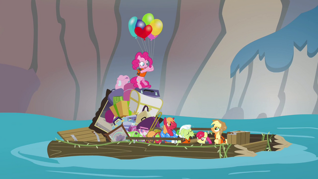 File:Pinkie Pie floats onto raft S4E09.png