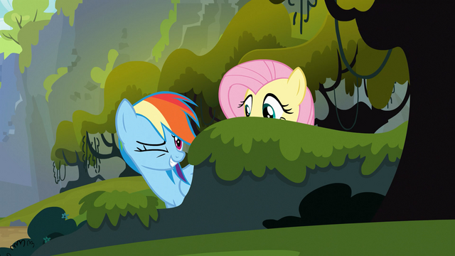 File:Rainbow Dash winks at Applejack 2 S03E09.png