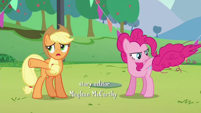 File:Applejack asks Pinkie about Countess Coloratura; Pinkie about to bring her tail down S5E24.png