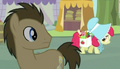 Dr. Hooves looking at Apple Bloom S1E12.png