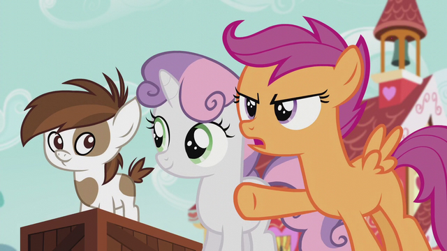 "File:Scootaloo ""Do we really need a big statue of her?"" S5E18.png"