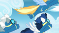 Wonderbolts fly across the screen S6E7.png
