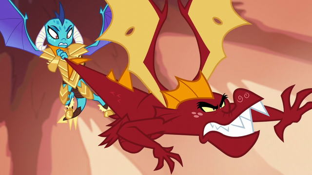 File:Ember holding Garble by the tail S6E5.png