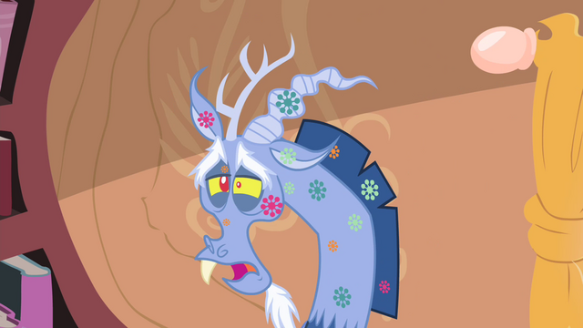 File:Discord with spots on his body S4E11.png
