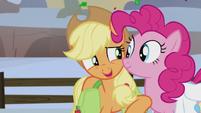 """Applejack whispering """"so far, so good"""" S5E20"""