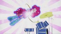 Pinkie Pie spinning on drums EG2