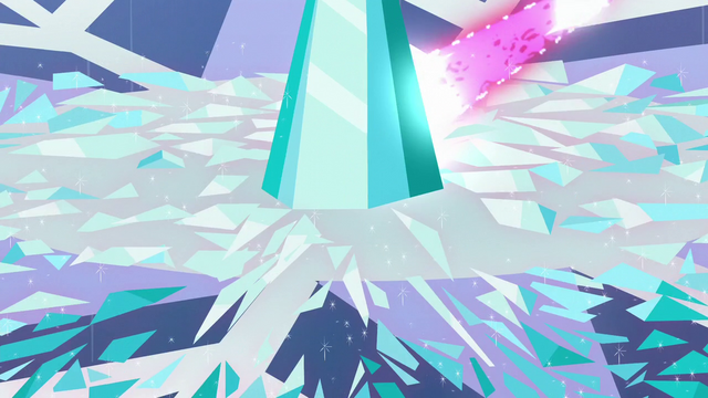 File:Twilight's magic beam being shot at Crystal Heart pieces S6E2.png