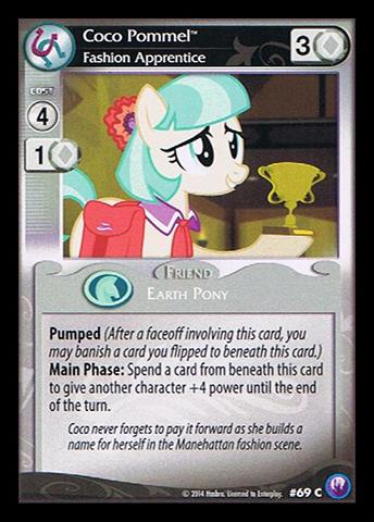 File:Coco Pommel, Fashion Apprentice card MLP CCG.jpg