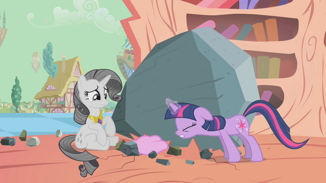 File:Confused grey Rarity angry Twilight S2E2.png