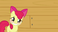 Apple Bloom putting on a smile S3E04