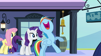 "Rainbow Dash excited ""that'll rock!"" S03E12"