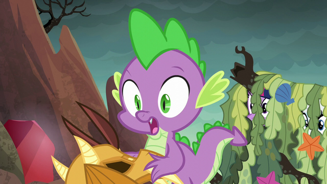 File:Spike shocked to see Princess Ember S6E5.png