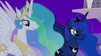"Celestia raises the sun ""with great joy"" S4E02"