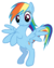 FANMADE Rainbow Dash standing vector