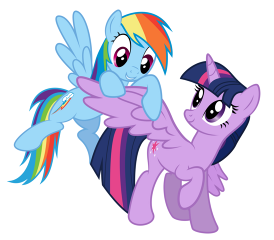 File:FANMADE Rainbow Dash and Twilight Sparkle.png