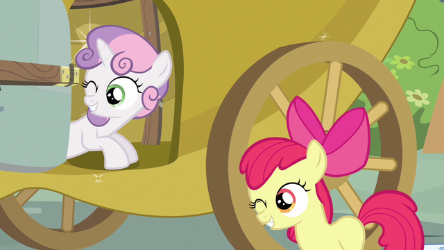 File:Sweetie Belle & Apple Bloom wink S3E4.png