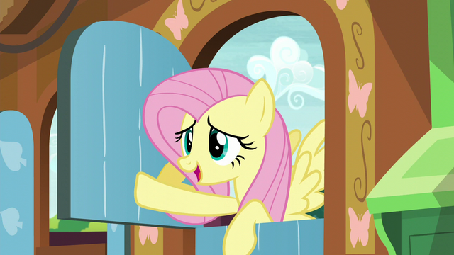 "File:Fluttershy ""we'll continue this discussion when I get back!"" S5E23.png"