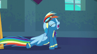 Rainbow Dash doing some stretches S6E7