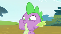 Spike stuffs the book in his mouth S4E23