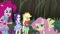 AJ and Rarity happy to see Twilight and Sunset EG4.png