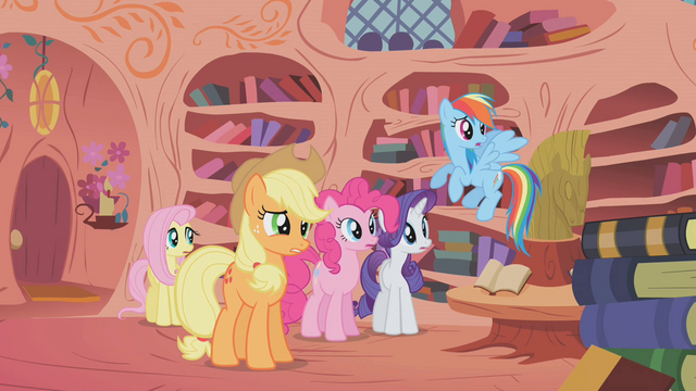 File:Applejack and the rest S01E07.png