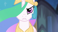 Princess Celestia addressing Nightmare Moon S4E02