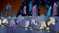 Crystal Ponies enslaved and chained BFHHS5