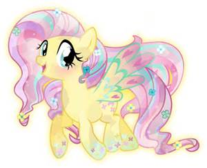 File:FANMADE Crystal Rainbow Power Fluttershy.jpg