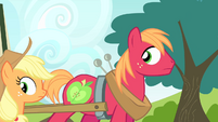 Big Mac sees Applejack going behind S4E17