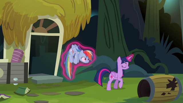 File:Twilight carrying Rainbow outside S4E04.png