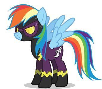 Promotional Facebook Halloween 2011 Rainbow Dash Shadowbolt