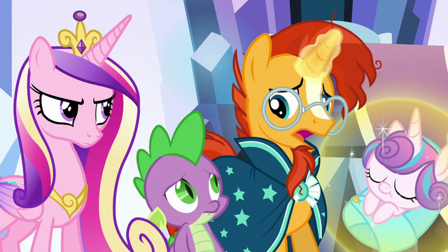 """File:Sunburst """"this changeling replaced your friend"""" S6E16.png"""
