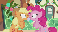 "Applejack and Pinkie ""I was gonna say that!"" S5E20"
