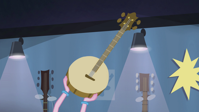 File:Pinkie Pie holding up a banjo EG2.png